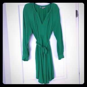 Banana Republic Green Belted Tunic Dress